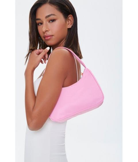 Genti Femei Forever21 Grosgrain-Strap Shoulder Bag PINK