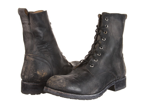Incaltaminte Barbati Frye Rogan Tall Lace Up Black Stone Wash