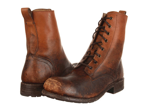 Incaltaminte Barbati Frye Rogan Tall Lace Up Cognac Stone Wash