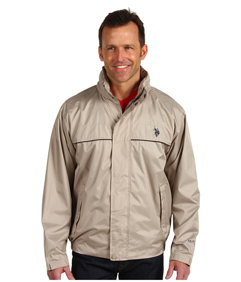 Imbracaminte Barbati US Polo Assn Windbreaker with Piping Thompson Khaki