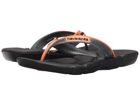 Incaltaminte Barbati Havaianas Power Flip Flops BlackNeon Orange