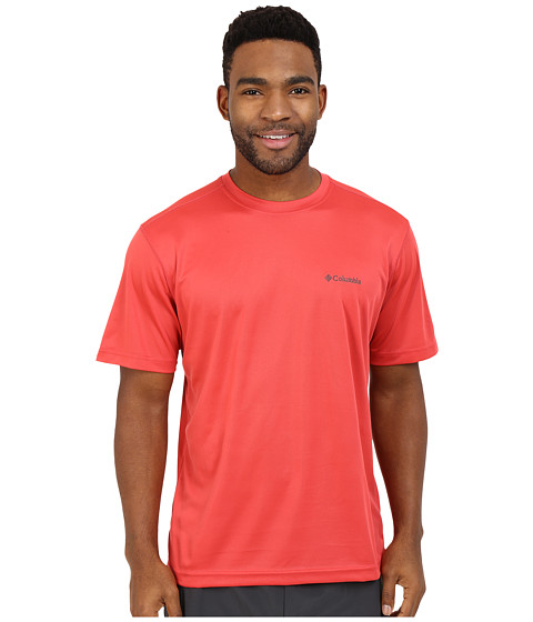 Imbracaminte Barbati Columbia Meeker Peaktrade Short Sleeve Crew Sunset Red