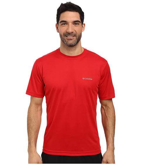 Imbracaminte Barbati Columbia Meeker Peaktrade Short Sleeve Crew Mountain Red
