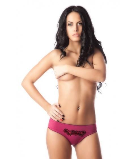 Imbracaminte Femei Loulou Chilot cu fese push-up Black Violet Roz