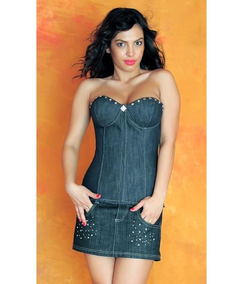 Imbracaminte Femei Sevy Fusta Irresistible Blue Universala