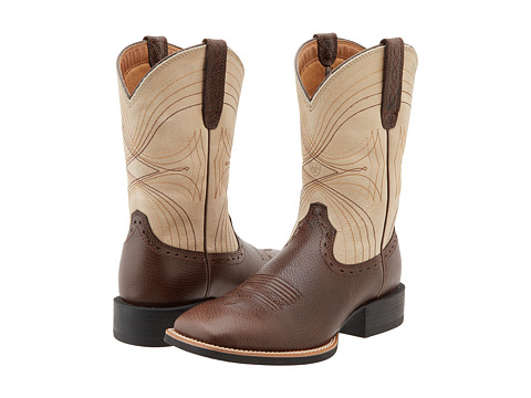 Incaltaminte Barbati Ariat Sport Wide Square Toe Washed BrownBone Crackle