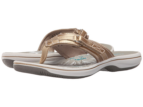 Incaltaminte Femei Clarks Breeze Sea Gold Metallic Synthetic