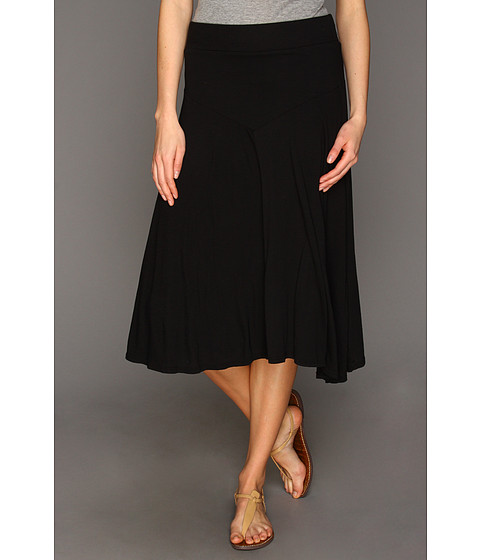 Imbracaminte Femei Three Dots Jersey Colette Double Layer Tea Length Skirt Black
