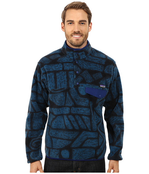 Imbracaminte Barbati Patagonia Lightweight Synchillareg Snap-Treg Shale Navy Blue