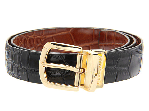 Accesorii Barbati Florsheim Reversible Croco Embossed Leather Belt BlackCognac Reversible