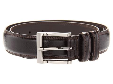 Accesorii Barbati Florsheim Pebble Grain 32mm Leather Belt Brown