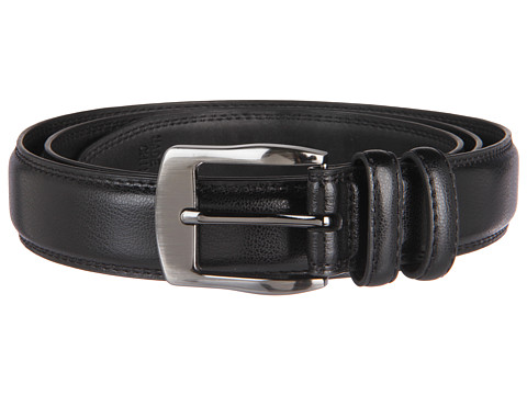 Accesorii Barbati Florsheim Big and Tall 35mm Leather Belt Black