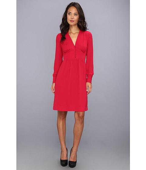 Imbracaminte Femei BCBGMAXAZRIA Fabiana Long Sleeve Dress Sangria