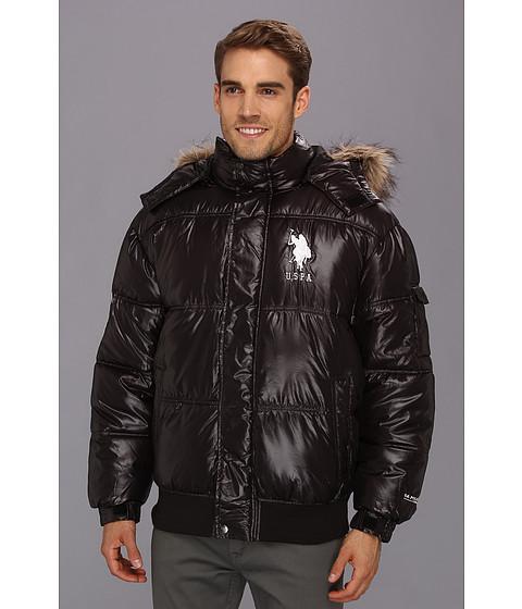 Imbracaminte Barbati US Polo Assn Short Snorkel Coat w Large Pony Black