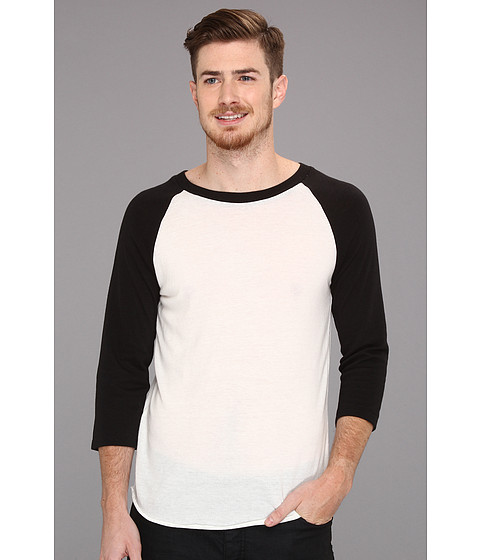 Imbracaminte Barbati Alternative Apparel Baseball Tee Eco True Black