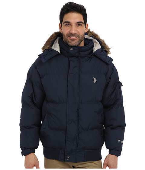 Imbracaminte Barbati US Polo Assn Short Snorkel Coat w Small Pony Classic Navy