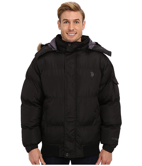 Imbracaminte Barbati US Polo Assn Short Snorkel Coat w Small Pony Black