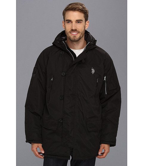 Imbracaminte Barbati US Polo Assn Long Snorkel Jacket Black