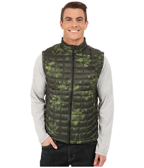 Imbracaminte Barbati The North Face ThermoBalltrade Vest Spruce Green Floral Camo Print