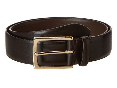 Accesorii Barbati John Varvatos 35 MM Textured Harness on Vachetta Leather Espresso