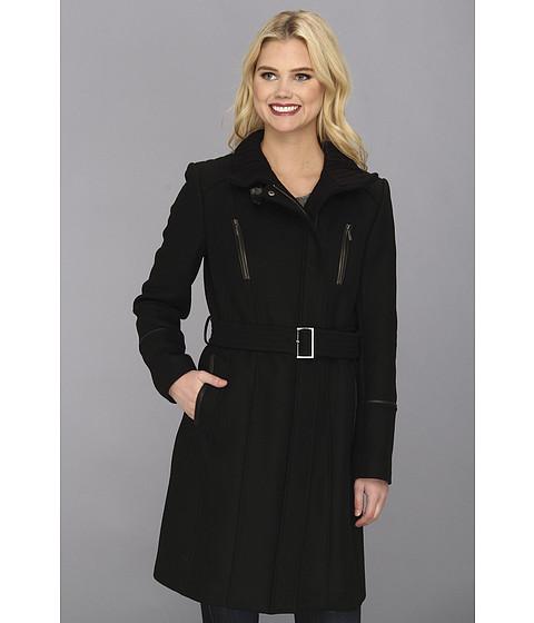 Imbracaminte Femei Cole Haan Italian Twill Belted Military Coat Black