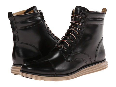 Incaltaminte Barbati Cole Haan Lunargrand Lace Boot Black 2