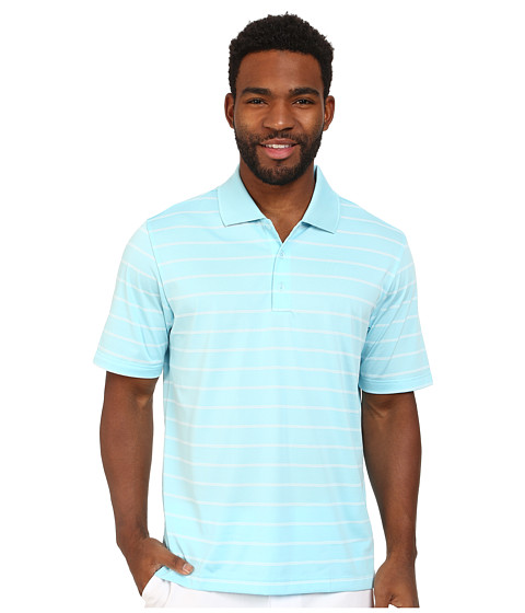 Imbracaminte Barbati adidas Golf Puremotiontrade 2-Color Stripe Jersey Polo '15 Frost BlueWhite