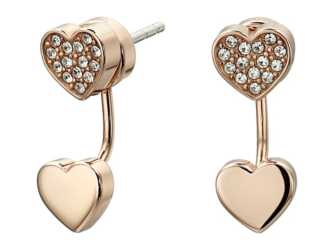 Bijuterii Femei Fossil Heart Stud Earrings Rose Gold 2