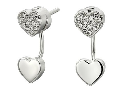Bijuterii Femei Fossil Heart Stud Earrings Silver 2