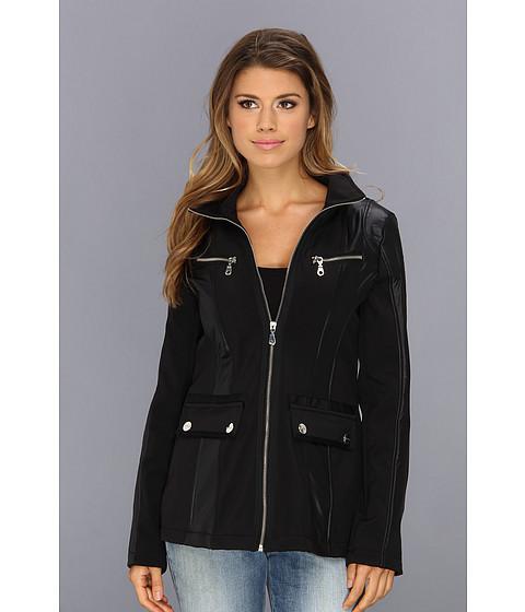 Imbracaminte Femei DKNY Short Zip Front Soft Shell Black
