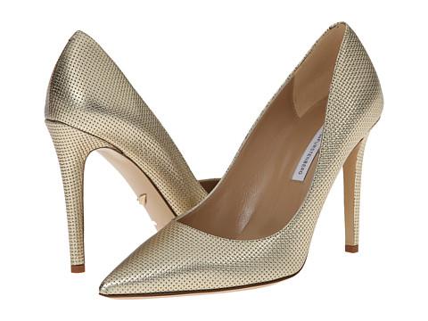 Incaltaminte Femei Diane Von Furstenberg Bethany Matte Gold Metallic Grid