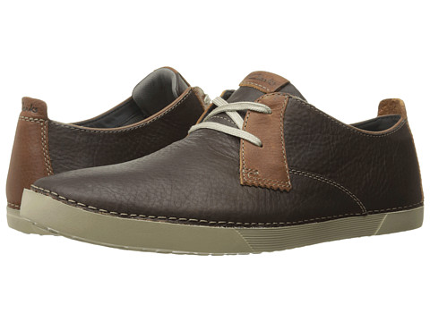 Incaltaminte Barbati Clarks Neelix Vibe Dark Brown Leather