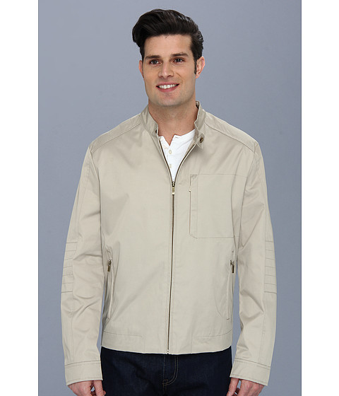 Imbracaminte Barbati Cole Haan Coated Cotton Moto Jacket w Stitch Details Sand