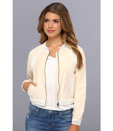 Imbracaminte Femei Free People Crochet Inset Baseball Jacket Ivory