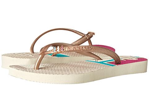 Incaltaminte Femei Havaianas Slim Tribal Flip Flops Beige 1