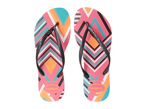 Incaltaminte Femei Havaianas Slim Tribal Flip Flops Shocking Pink