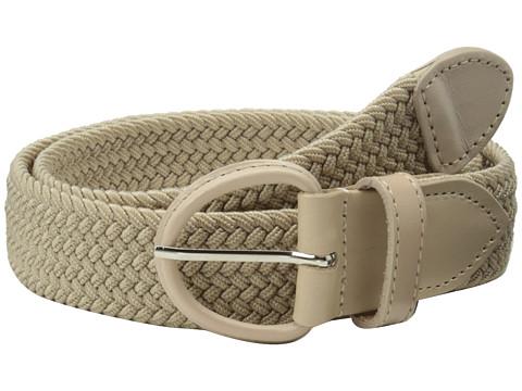 Accesorii Barbati Florsheim Braided Elastic Stretch Belt 35mm Khaki