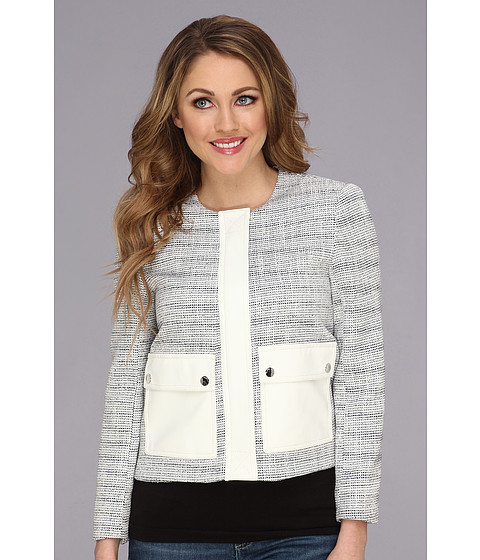 Imbracaminte Femei Vince Camuto Two-Pocket Tweed Jacket Light Cream