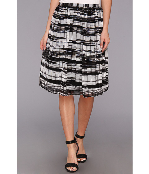 Imbracaminte Femei Calvin Klein Printed Pinktuck Polyester Chiffon Skirt BlackWhite