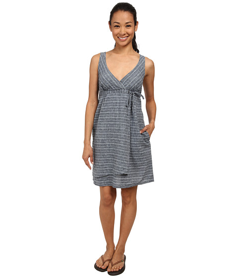 Imbracaminte Femei Patagonia Island Hemp Crossover Dress Chambray StripeNavy Blue
