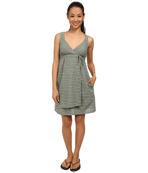 Imbracaminte Femei Patagonia Island Hemp Crossover Dress Chambray StripeBasin Green