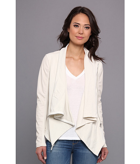 Imbracaminte Femei Blank NYC Beige Vegan Leather Sleeved Draped Jacket in Beige Beige