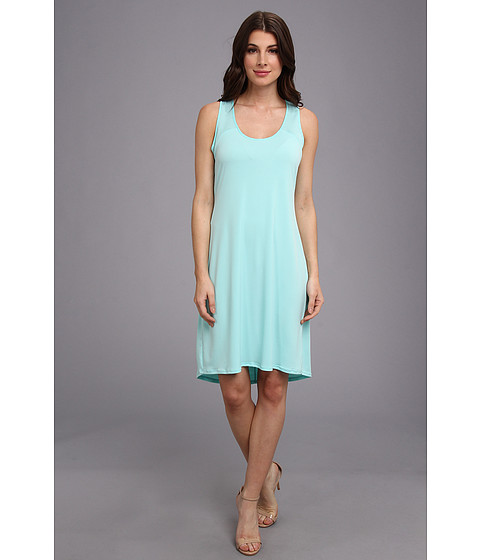 Imbracaminte Femei Calvin Klein SL High-Low Shirt Matte Jersey Dress Aqua