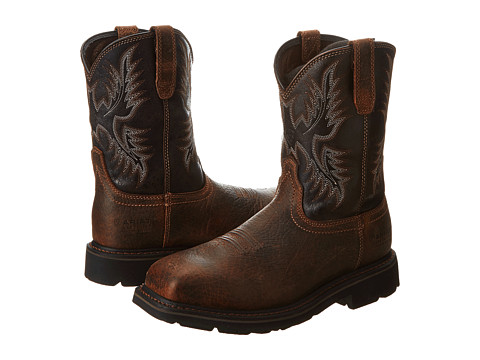 Incaltaminte Barbati Ariat Sierra Wide Square Toe Puncture Resistant Steel Toe Earth Black Crunch