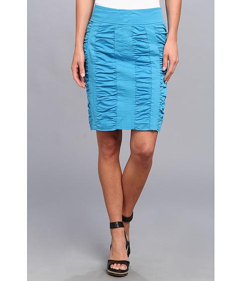 Imbracaminte Femei Christin Michaels Side Zip Rouched Skirt Solid Malibu