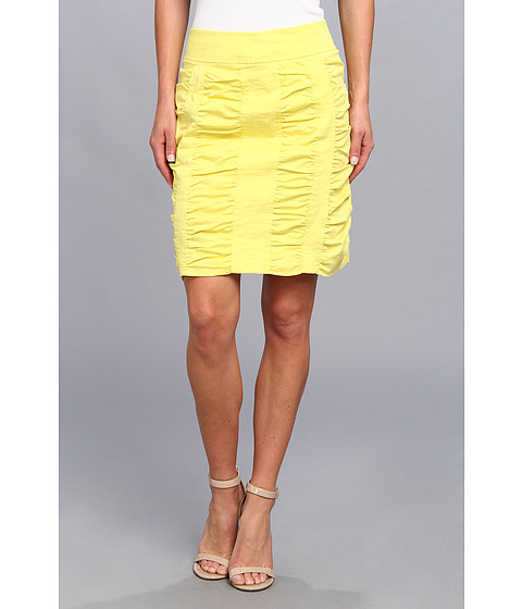 Imbracaminte Femei Christin Michaels Side Zip Rouched Skirt Solid Sun