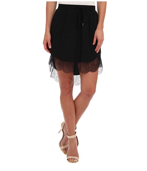 Imbracaminte Femei BCBGeneration Lace Trim Hi-Lo Skirt Black