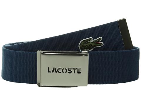 Accesorii Barbati Lacoste SPW L1212 Textile Croc Belt Philippines Blue