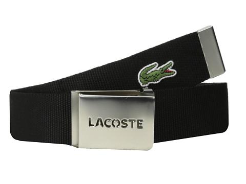 Accesorii Barbati Lacoste SPW L1212 Textile Croc Belt Black