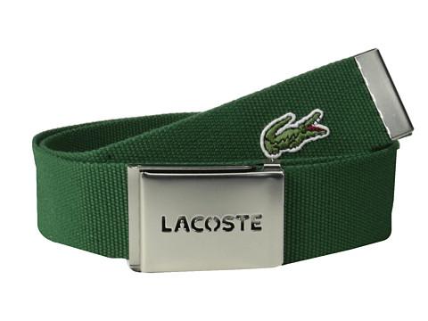 Accesorii Barbati Lacoste SPW L1212 Textile Croc Belt Green